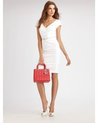 Dior | White Piqué Belted Dress | Lyst