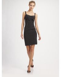 Dolce & Gabbana | Black Polka Dot Silk Dress | Lyst