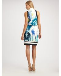 Elie Tahari - Multicolor Halley Stretch Silk Georgette Dress - Lyst
