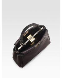 Fendi | Black Peekaboo Medium Leather Tote | Lyst