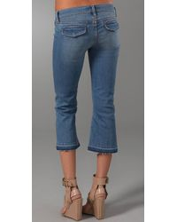Genetic Denim - Blue Alaina Lace Up Cropped Flare Jeans - Lyst