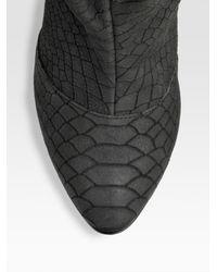 Giuseppe Zanotti - Black Python-print Drawstring Ankle Boots - Lyst