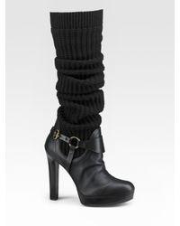 Gucci | Black Lola Boots | Lyst