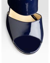 Halston - Black Keyhole-front Jersey Mini Dress - Lyst