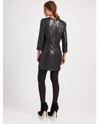 IRO - Black Sequin Mini Dress - Lyst