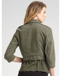 James Perse - Black Cropped Military Jacket - Lyst