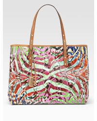 Jimmy Choo | Multicolor Scarlet Large Printed Shopper | Lyst