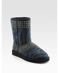 Jimmy Choo | Multicolor Ugg For Kaia Zebra Print Sheepskin Boots | Lyst