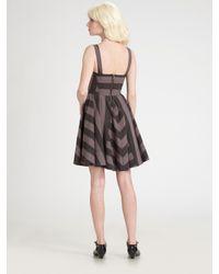 Marc By Marc Jacobs - Gray Jailbird Stripe Dress - Lyst