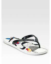 Marc By Marc Jacobs | Black Miss Marc Bird Flip Flops | Lyst