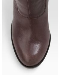 MICHAEL Michael Kors | Brown Greenwich Belted Tall Boots | Lyst