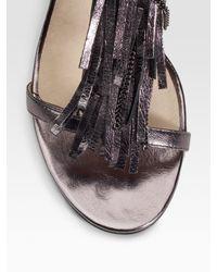 MICHAEL Michael Kors | Metallic Vienna Shiny Sandals | Lyst