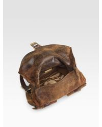 Michael Kors - Brown Darrington Distressed Leather Hobo - Lyst