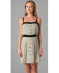 MILLY - Natural Pintucked Cami Dress - Lyst