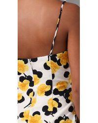 MILLY | Yellow Liz Floral Print Dress | Lyst