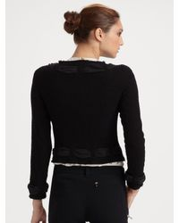 Boutique Moschino - White Rosette Silk Blouse - Lyst