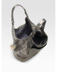 Olivia Harris - Metallic Lambskin Shoulder Bag - Lyst