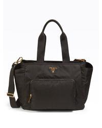 Prada | Black Nylon Baby Bag | Lyst