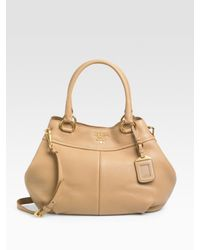 Prada | Brown Vitello Daino Top Handle Bag | Lyst