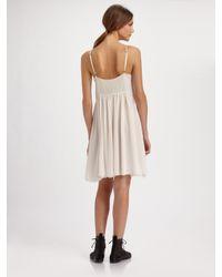 Proenza Schouler   White Pintucked Gauze Cami Dress   Lyst
