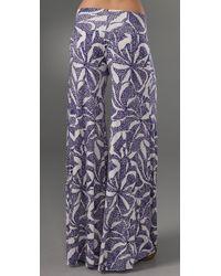 Rachel Pally - Blue Wide Leg Trousers - Lyst