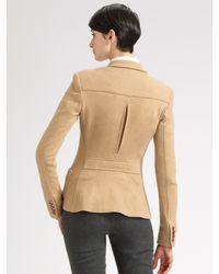Ralph Lauren Black Label - Natural Cashmere-blend Knit Jacket - Lyst