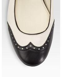 Ralph Lauren Collection - Natural Umari Mary Jane Ballet Flats - Lyst