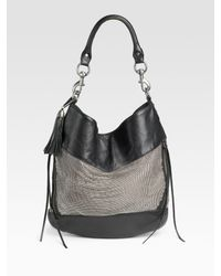 Rebecca Minkoff | Metallic Metal Mesh True Love Leather Hobo | Lyst