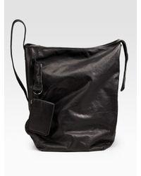 Rick Owens | Black Leather Shoulder Bag | Lyst