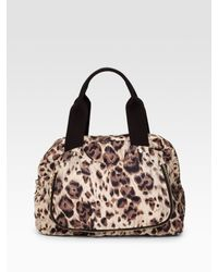 Stella McCartney | Multicolor Nirvana Leopard Print Nylon Top Handle Bag | Lyst