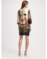 Stella McCartney | Multicolor Silk Dress with Floral Print | Lyst
