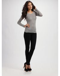 Tibi | Gray Long Sleeve Tee | Lyst