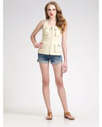 Tory Burch | Natural Jason Cotton Twill Vest | Lyst