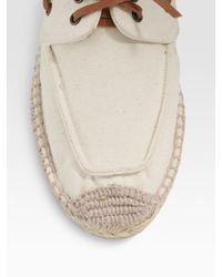 Tory Burch - White Top Sider Canvas Espadrilles - Lyst
