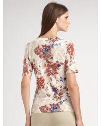 TSE - White Metric Floral Elbow Sleeve Cardigan - Lyst
