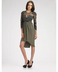 Vena Cava | Green Long Sleeve Silk Dress | Lyst