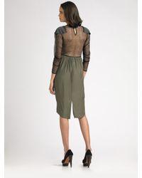 Vena Cava - Green Long Sleeve Silk Dress - Lyst