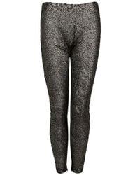 Victoria Beckham | Black Antique Mirror Lace Leggings | Lyst