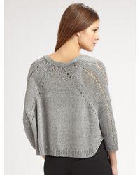 Vince - Gray Swing Shrug Sweater - Lyst