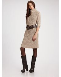 Weekend by Maxmara | Natural Cable-knit Sweater Dress | Lyst
