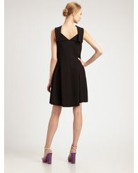 Saint Laurent - Black Sleeveless Boatneck Dress - Lyst