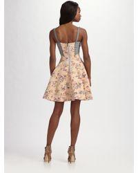 Z Spoke by Zac Posen - Black Floral-print Corset Dress - Lyst