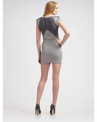 Zac Posen - Gray Double Face Vector Dress - Lyst
