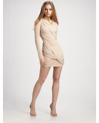 Alice + Olivia - Natural Long-sleeve Goddess Dress - Lyst