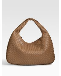 Bottega Veneta - Brown Veneta Medium Woven Leather Hobo - Lyst
