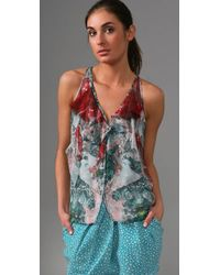 Brian Reyes - Red Cocoon Blouse - Lyst