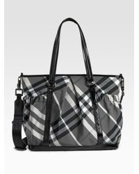 Burberry | Black Diaper Tote Bag | Lyst