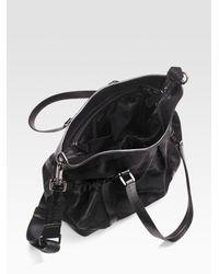 Burberry | Black Tonal Check Diaper Bag | Lyst