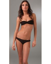Cali Dreaming | Brown Twist Front Bikini | Lyst