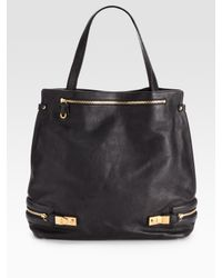 Chloé | Black Cary Leather Tote | Lyst